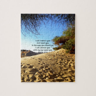 Bible Verses Inspirational Quote Psalm 32:8 Puzzles