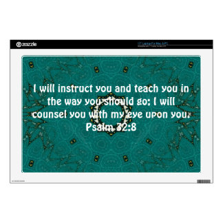 Bible Verses Inspirational Quote Psalm 32:8 Laptop Skins
