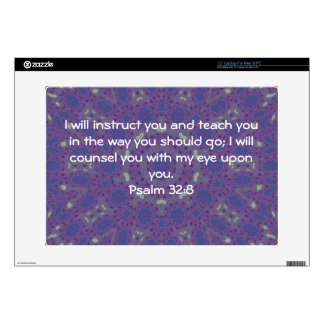 Bible Verses Inspirational Quote Psalm 32:8 Skin For Laptop