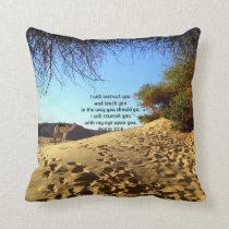 Bible Verses Inspirational Quote Psalm 32:8 Throw Pillow