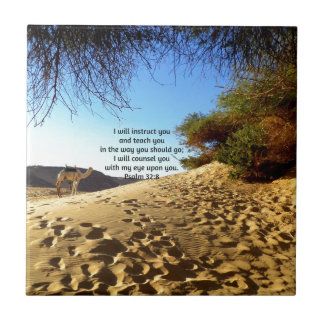 Bible Verses Inspirational Quote Psalm 32:8 Tile