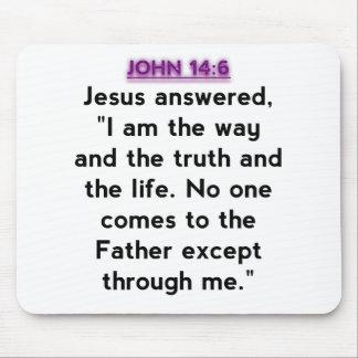 Bible Verses - John 14:6 Mousepad