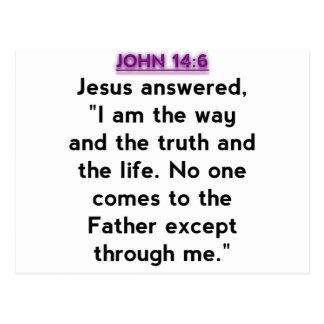 Bible Verses - John 14:6 Post Cards