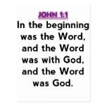 Bible Verses - John 1:1 Postcard