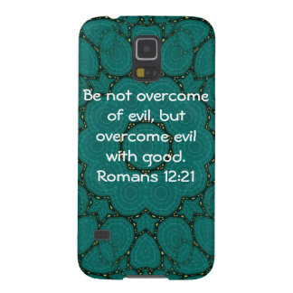 Bible Verses Love Quote Saying Romans 12:21 Galaxy S5 Cover
