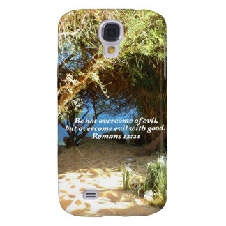 Bible Verses Love Quote Saying Romans 12:21 Galaxy S4 Case