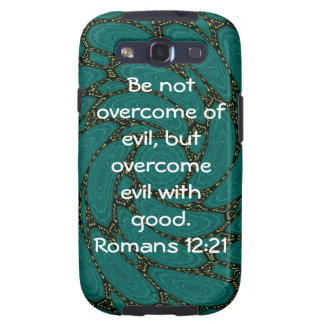 Bible Verses Love Quote Saying Romans 12 21 Samsung Galaxy SIII Cover