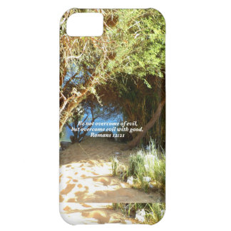 Bible Verses Love Quote Saying Romans 12:21 iPhone 5C Cover