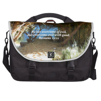 Bible Verses Love Quote Saying Romans 12 21 Bags For Laptop