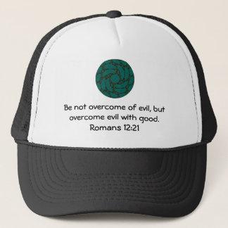 Bible Verses Love Quote Saying Romans 12:21 Trucker Hat