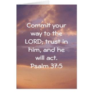 Bible Verses Motivational Scriptures Psalm 37:5 Greeting Card