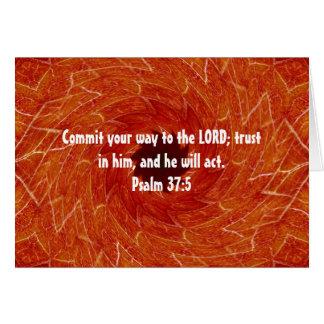 Bible Verses Motivational Scriptures Psalm 37:5 Card