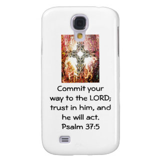 Bible Verses Motivational Scriptures Psalm 37:5 Galaxy S4 Cases