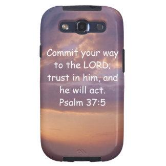 Bible Verses Motivational Scriptures Psalm 37:5 Galaxy S3 Cases
