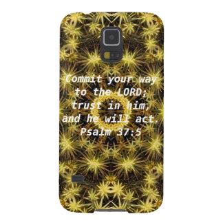 Bible Verses Motivational Scriptures Psalm 37:5 Galaxy S5 Case
