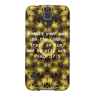Bible Verses Motivational Scriptures Psalm 37:5 Galaxy S5 Cover