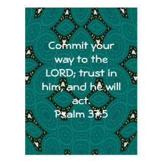 Bible Verses Motivational Scriptures Psalm 37:5 Postcard