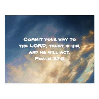 Bible Verses Motivational Scriptures Psalm 37:5 Post Cards