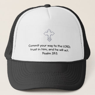 Bible Verses Motivational Scriptures Psalm 37:5 Trucker Hat