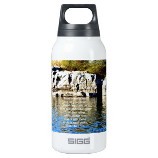 Bible Verses Quote about Trust Proverbs 3:5-6 10 Oz Insulated SIGG Thermos Water Bottle