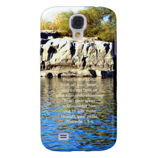 Bible Verses Quote about Trust Proverbs 3:5-6 Galaxy S4 Covers