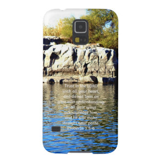Bible Verses Quote about Trust Proverbs 3:5-6 Case For Galaxy S5
