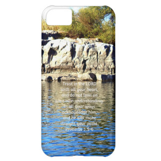 Bible Verses Quote about Trust Proverbs 3:5-6 iPhone 5C Covers