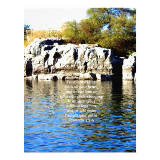 Bible Verses Quote about Trust Proverbs 3:5-6 Letterhead