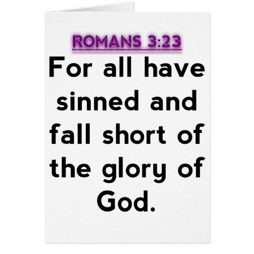 Bible Verses - Romans 3:23 Greeting Card