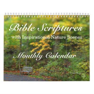 Bible Verses Scripture Inspirational Nature Scenes Calendar