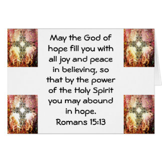 Bible Verses Uplifting Quote Romans 15:13 Card