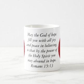 Bible Verses Uplifting Quote Romans 15:13 Coffee Mug