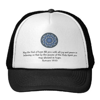 Bible Verses Uplifting Quote Romans 15:13 Trucker Hat