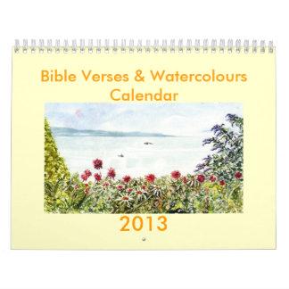 'Bible Verses & Watercolours' Calendar