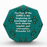 Bible Verses Wisdom Quote Saying Proverbs 1:7 Acrylic Award