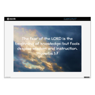 Bible Verses Wisdom Quote Saying Proverbs 1:7 Decals For Laptops