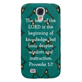 Bible Verses Wisdom Quote Saying Proverbs 1:7 Samsung Galaxy S4 Cover