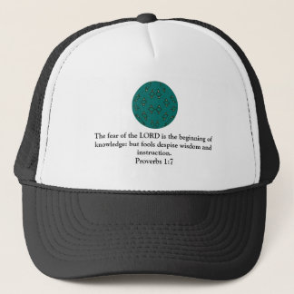 Bible Verses Wisdom Quote Saying Proverbs 1:7 Trucker Hat