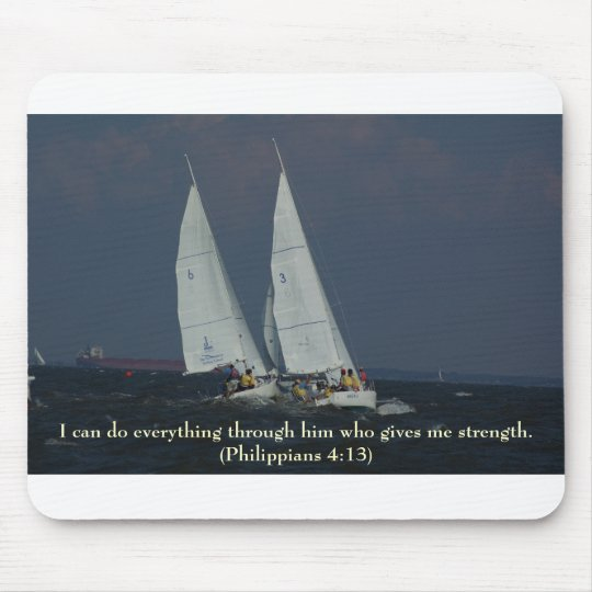 Bible Versus Series - Philippians 4:13 Mouse Pad