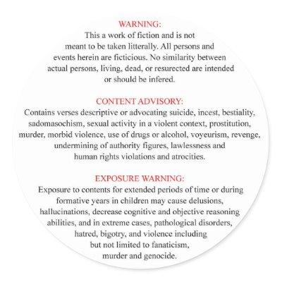 [Image: bible_warning_label_sticker-p21757673812...cl_400.jpg]