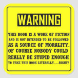 Bible Warning Label Sticker