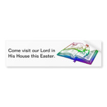 Bible with Easter Lily Bumper Sticker