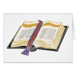 Bible with Woven Bookmark Greeting Card