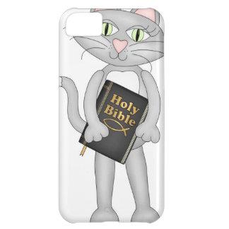 Biblia cristiana del gato funda para iPhone 5C