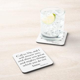 Biblia cristiana Jesús inspirado del creyente Posavasos De Bebida
