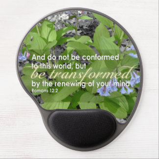 Biblia cristiana transformada del 12:2 de los alfombrillas de ratón con gel