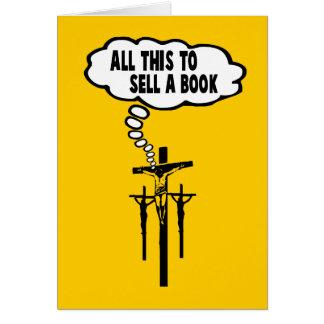 Biblia de Athiest Tarjeta De Felicitación