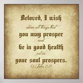 Biblia de Juan querida, deseo que usted pueda Póster