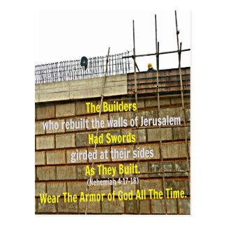Biblia de Nehemiah los constructores que Postales