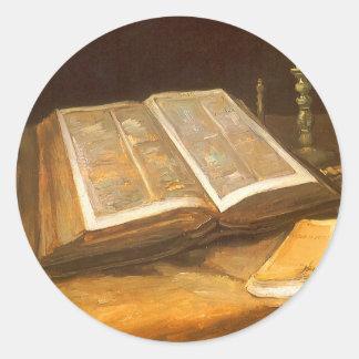 Biblia de Vincent van Gogh, impresionismo del Pegatina Redonda